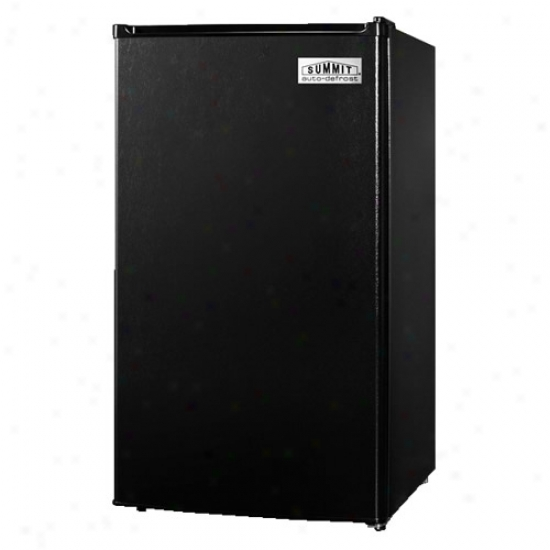 Summit Counter Depth Compact Refrigerator Freezer - Black And Stinless Carburet of iron