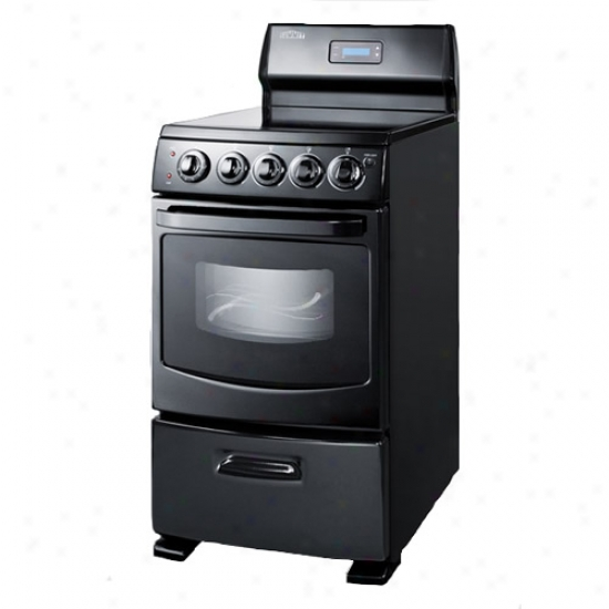Summit Jet Black 20  Electric Range