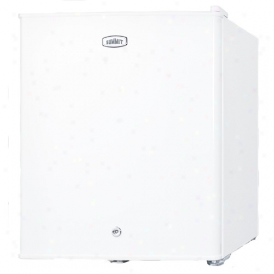 Summit White Compact All Refrigerator W/ Lock
