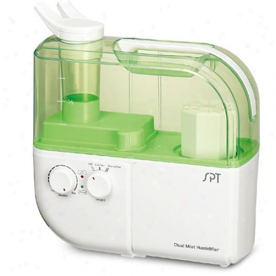 Sunpentown Dual-mist Ultrasonic Humidifier Warm/cool