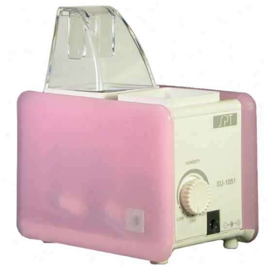 Sunpentown Portable Humidifier - Pink & White