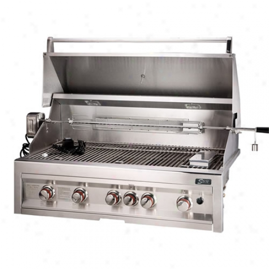 Sunstone Grills 42  5 Burner Gas Grill With Rotisserie