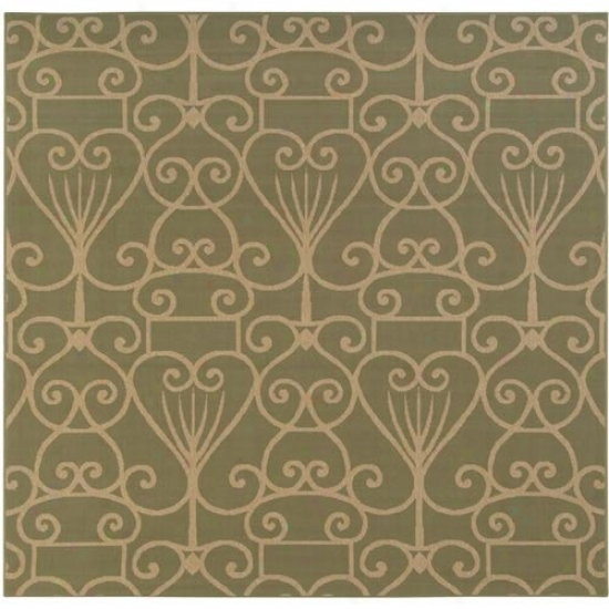 Surya Alfresco Sage/beige Egyptian Outdoor Rug