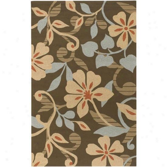 Surya Rain Blue/brown Floral Outdoor Rug