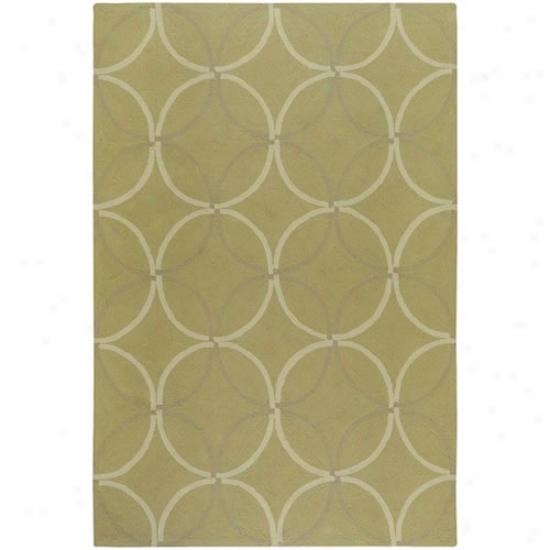 Surya Rain Verdant Diamond/oval Pattern Outdoor Rug