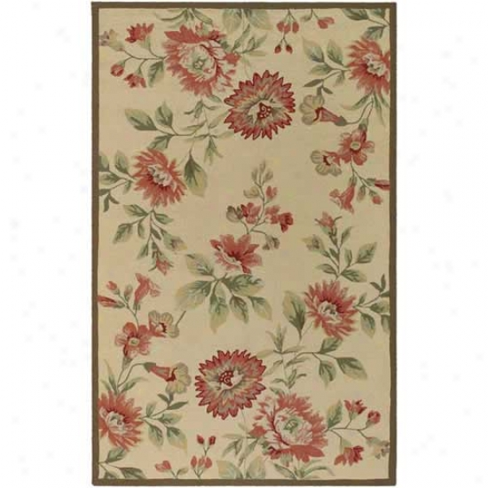 Surya Rain Red Blossom Outdoor Rug