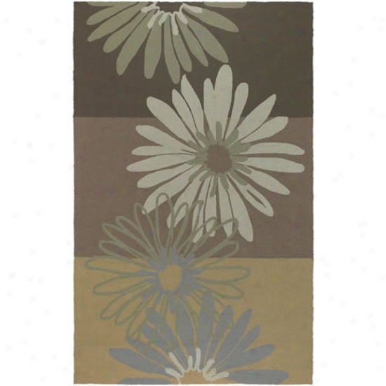 Surya Rain Tricolor Flower Outdoor Rug