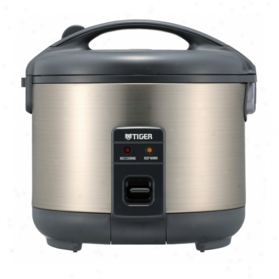 Tiger Stainless Steel Electric 10 Cup Rice Cooker
