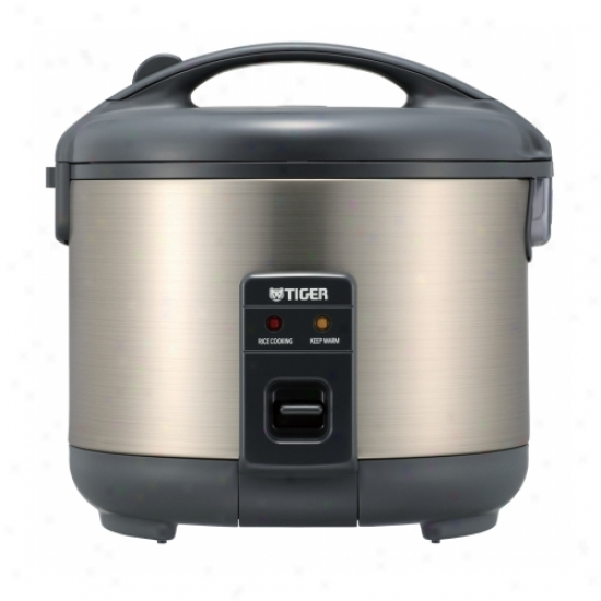 Tiger Stainless Steel Electric 5.5 Cup Rice Cooker