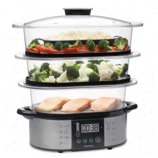 Toastess 3 Tier Steel Vegetable Steamer