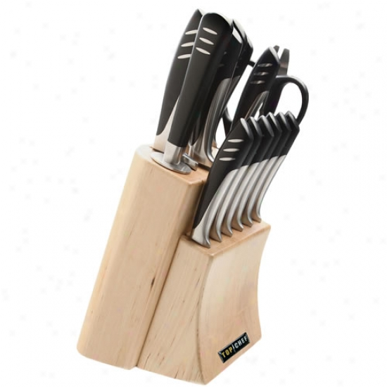 Top Chef 15 Piece Stainless Steel Knife Set