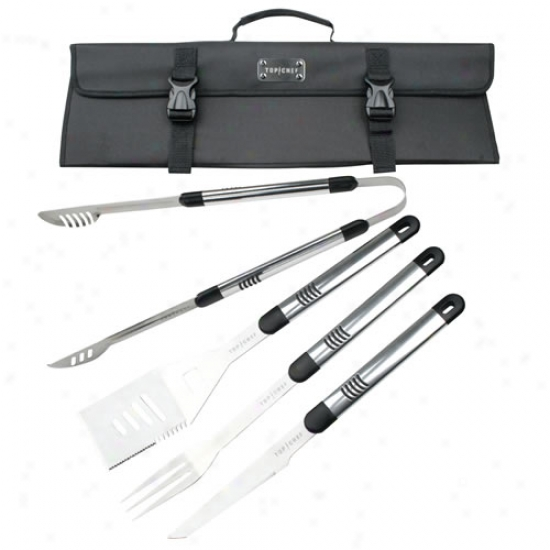 Top Chef 5 Piece Stainless Steel Bbq Set