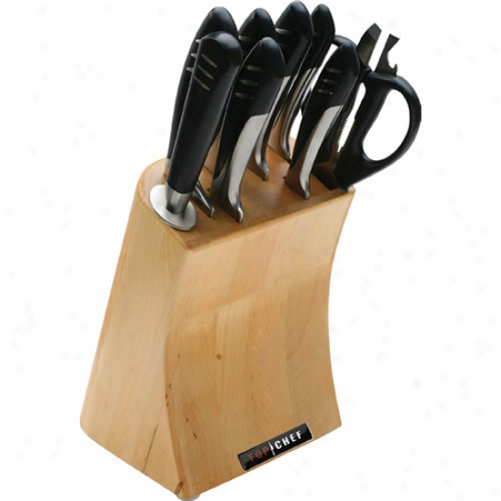 Top Chef 9 Piece Completely Stainless Steel Knife Set