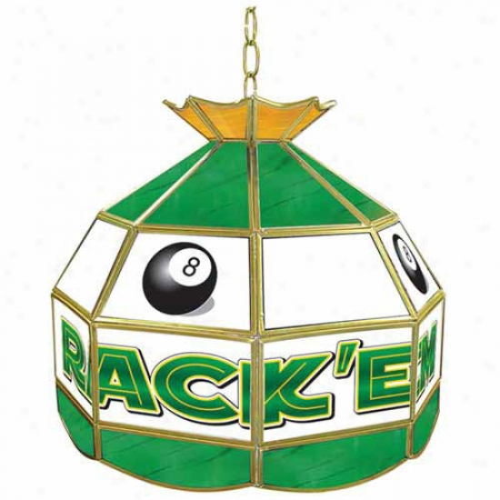 Trademark Global 16  Rack'em 8-ball Stained Glass Tiffany Lamp