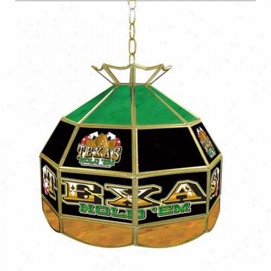 Trademark Global 16  Texas Hold 'em Stained Glass Tiffany Lamp