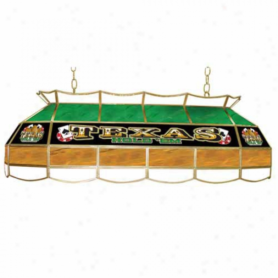 Trademark Global 40  Texas Hold 'em Stained Glass Light Fixture