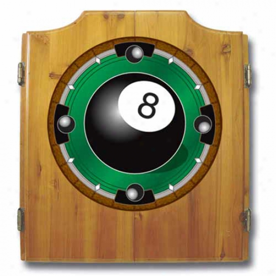 Trademark Global 8 Ball Rush Cabinet With Darts And Board