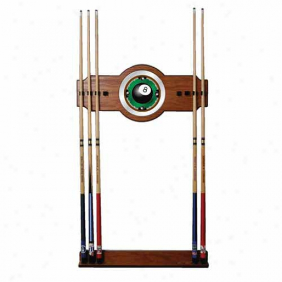 Trademark Global 8 Ball Rack 'em 2 Piece Forest And Mirror Wall Hint Rack