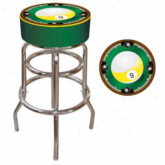 Trademark Global 9-ball Padded Bar Stool