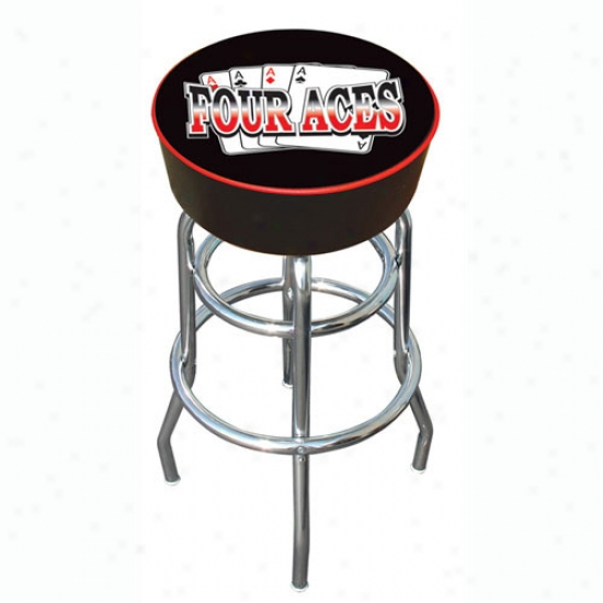 Trademark Global Ace Padded Bar Stool