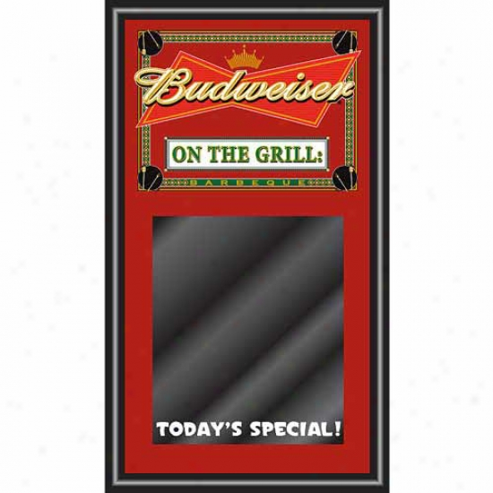 Trademark Gllbal Budweiser Bbq Write On Menu Chalk Board - On The Grill