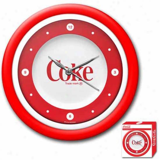 Trademark Global Coca-cola Clock Neon Retro Style Collectible