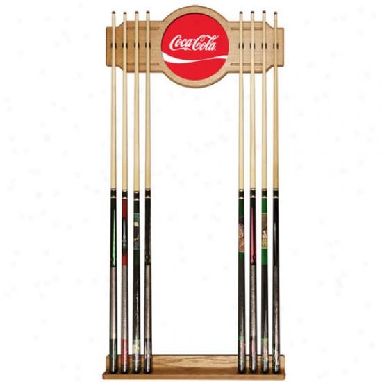 Traddemark Global Coca Cola Logo Acfylic Cue Rack
