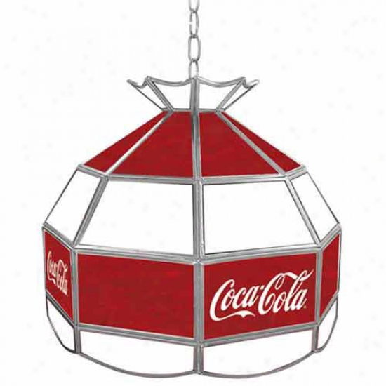 Trademark Global Coca Cola Logo Vintage 16-inch Stained Tiffany Lamp