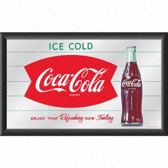 Trademark Global Coca Cola Logo Vintage Mirror
