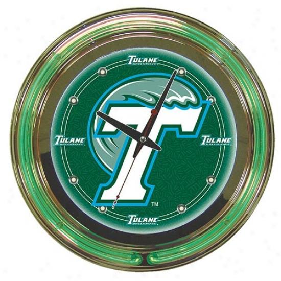 Trademark Global College Logo Neon Clock - 14-inch Diameter