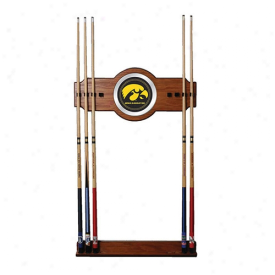 Trademark Global College Logo Wood And Mirror Wall Cue Rack