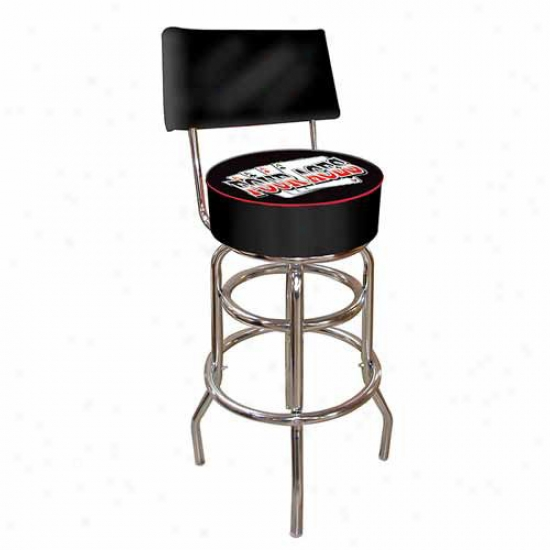 Trademark Global Four Aces Padded Bar Stool With Back