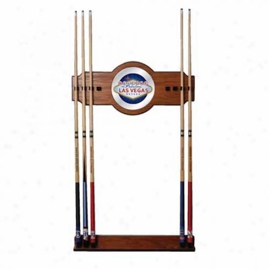 Trademark Global Las Vegas 2 Piece Wood And Mirror Wall Cue Rack