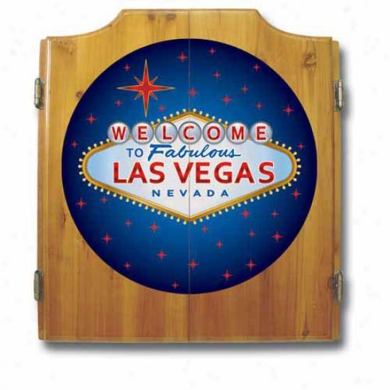 Trademark Global Las Vega sDart Cabinet With Darts And Board