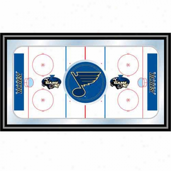 Trademark Global Nhl Tezm Logo Framed Hockey Rink Mirror