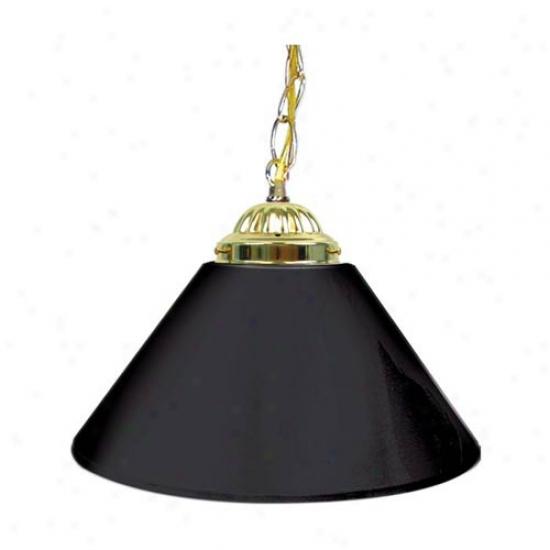 Trademark Global Artless 14-inch Single Shade Bar Lamp - Brass Hardware