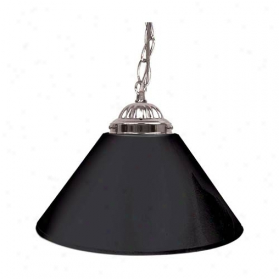 Trademark Global Plain 14-inch Single Shade Bar Lamp - Silver Hardware