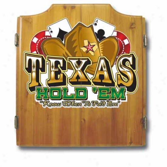 Trademark Global Texas Hold 'em Dart Cabinet With Darts And Board