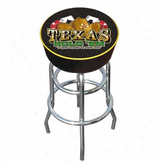 Trademark Global Texas Hold 'em Logo Padded Bar Stool