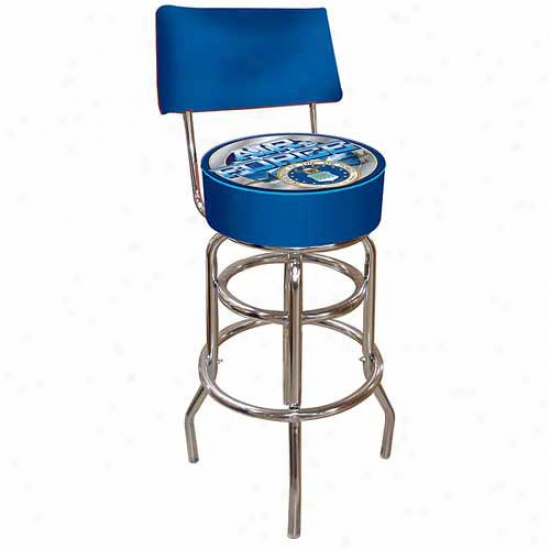 Trademark Glbal United Srates Air Force Padded Bar Stool With Back