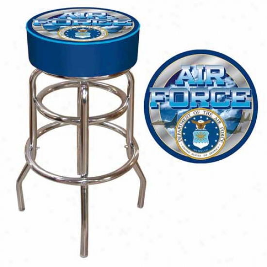Trademark Global Us Air Force Padded Bar Stool