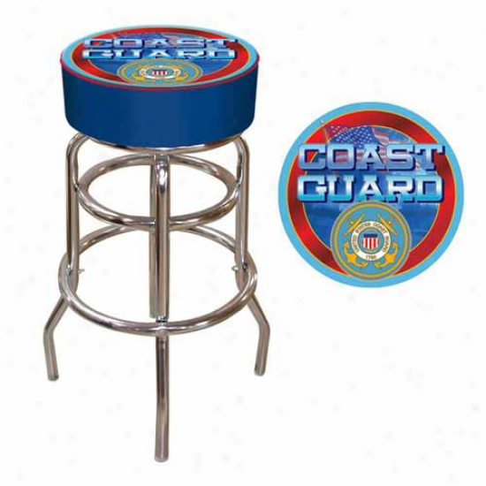 Trademark Global Us Coast Guard Padded Bar Stool