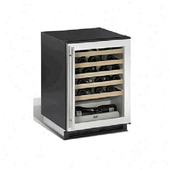U-line Origin Series 48 Bottle Wine Cooler - Stainless Steel