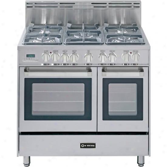 Verona 36  Dual Fuel Doyble Oven Range
