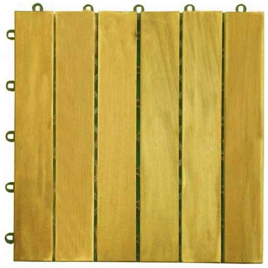 Vifah 6 Slat Straight Deck Tile