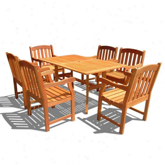 Vifah 7-piece Rectangular Cuevy Dining Set