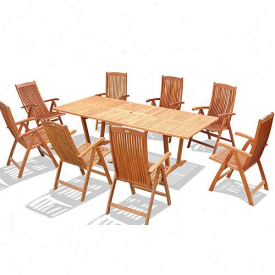 Vifah 9-piece Dining Set With Oval Extension Tabl3