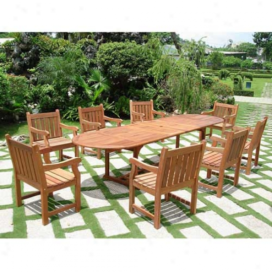 Vifab 9 Piece Vista Dining Set Attending Baltic Chairs