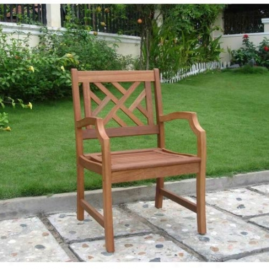 Vifah Atlantic Shorea Wood Patio Chair