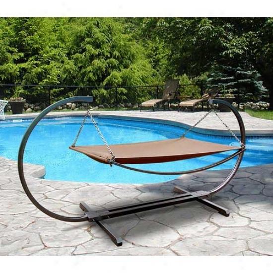 Vifah Boris Outdoor Steel Stand & Polyester Hammock Bed Set